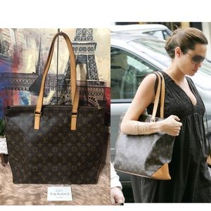 Authentic Louis Vuitton Cabas Mezzo Shoulder